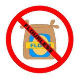 Símbolo: Texto de Flourless Imagem de Stock Royalty Free