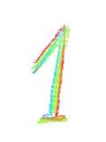 Símbolo tirado mão do número isolado Fotografia de Stock Royalty Free
