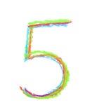 Símbolo tirado mão do número isolado Imagem de Stock