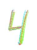 Símbolo tirado mão do número isolado Imagens de Stock