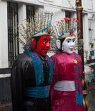 Símbolo tradicional da cultura do fantoche de Ondel-ondel Jakarta Fotografia de Stock Royalty Free