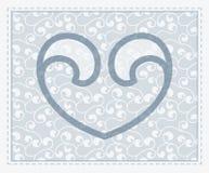 Símbolo transparente do coração do vetor no backgr sem emenda Imagem de Stock Royalty Free
