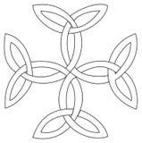 Símbolo transversal de Triquetras ilustração stock