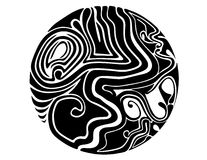 Símbolo tribal da esfera ilustração royalty free