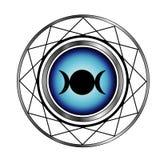 Símbolo triplo da lua da deusa Imagens de Stock