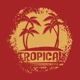 Símbolo tropical Imágenes de archivo libres de regalías