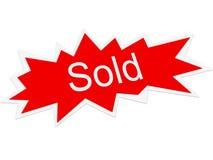 Símbolo vendido Imagens de Stock