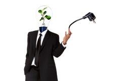 Símbolo verde da energia Imagens de Stock