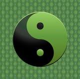Símbolo verde de Ying-Yang Fotos de Stock Royalty Free