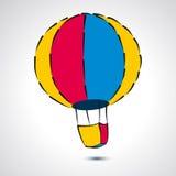 Símbolo verde del balón de aire - ejemplo del vector Imagen de archivo libre de regalías