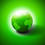 Símbolo verde do ícone do mundo Imagem de Stock Royalty Free