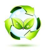 Símbolo verde do conceito Fotos de Stock Royalty Free