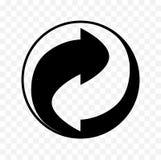Símbolo verde do ponto ilustração stock