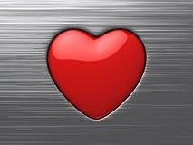 Símbolo vermelho do amor ilustração stock