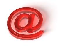 Símbolo/vermelho do email em ilustração do vetor