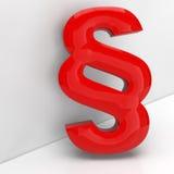Símbolo vermelho do parágrafo em 3D Imagem de Stock