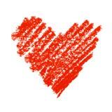 Símbolo vermelho pintado do coração. ilustração royalty free