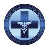 Símbolo veterinário do cuidado - caduceus do logotipo ilustração stock