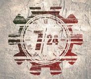 Símbolo 7 y 24 de la sincronización Fotos de archivo