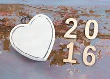 Símbolo y 2016 del amor Imagenes de archivo