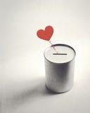 Símbolo y donación del corazón fotografía de archivo libre de regalías