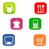 Símbolos útiles para los servicios informativos Foto de archivo libre de regalías