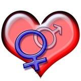 Símbolos 2 del amor fotografía de archivo libre de regalías