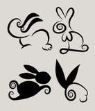Símbolos 2 del conejo Imagenes de archivo