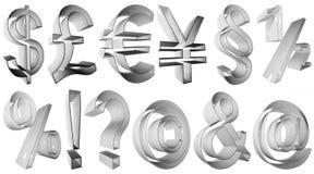 Símbolos 3D de alta resolução Fotografia de Stock Royalty Free