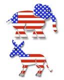 Símbolos 3D del partido político ilustración del vector