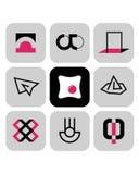 Símbolos 4 del vector Fotos de archivo libres de regalías