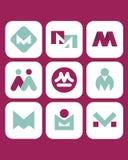 Símbolos 5 del vector Fotografía de archivo libre de regalías