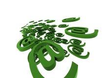 Símbolos abstractos del correo entrante Imagen de archivo libre de regalías