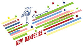Símbolos abstractos del estado de New Hampshire Fotos de archivo libres de regalías