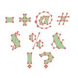 Símbolos abstractos hechos de líneas conectadas puntos stock de ilustración