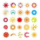 Símbolos abstratos do sol Imagem de Stock Royalty Free