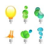 Símbolos abstratos. Electro conceitos Ilustração Stock