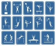 Símbolos adornados de los deportes Foto de archivo libre de regalías