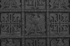 Símbolos adornados del metal de América imágenes de archivo libres de regalías