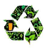 Símbolos ambientais da conservação Foto de Stock Royalty Free