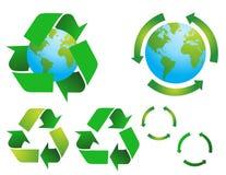 Símbolos ambientais da conservação do vetor Imagem de Stock