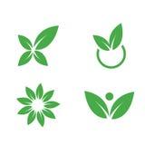 Símbolos ambientais. Vetores da natureza Fotografia de Stock Royalty Free