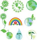 Símbolos ambientales Imagen de archivo libre de regalías
