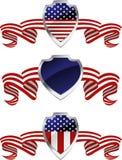 Símbolos americanos da proteção Imagens de Stock Royalty Free