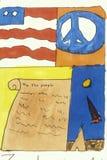 Símbolos americanos de la libertad Foto de archivo libre de regalías