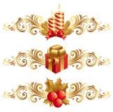 Símbolos & ornamento do Natal Foto de Stock Royalty Free