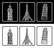 símbolos arquitectónicos Fotografía de archivo