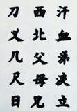 Símbolos asiáticos Imagen de archivo libre de regalías