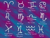 Símbolos astrológicos Foto de Stock