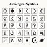 Símbolos astrológicos Fotos de archivo libres de regalías
